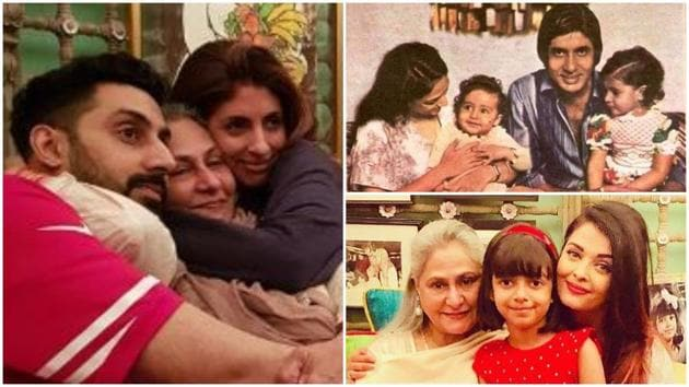 Jaya Bachchan may look strict but she loves cuddles like any other mom.