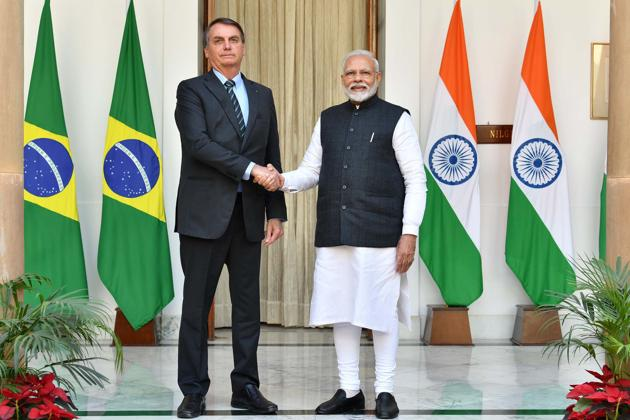 Brazil President Jair Messias Bolsonaro had written the letter after his phone call with Prime Minister Narendra Modi on Saturday.(PIB)