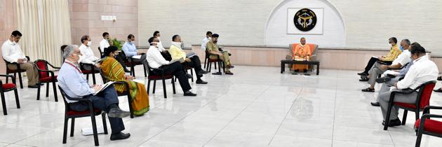 Chief minister Yogi Adityanath has been laying stress on capacity building for laboratories.(HT)