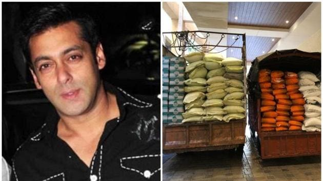 Salman Khan is providing ration to daily wage workers, Baba Siddique revealed on Twitter.