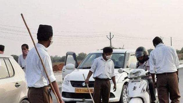 The pictures were posted by Friends of RSS from its Twitter handle.