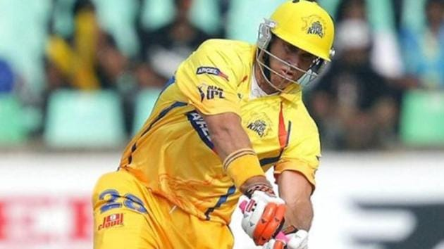 File photo of Matthew Hayden in CSK colours in the IPL.(Twitter/Star Sports)