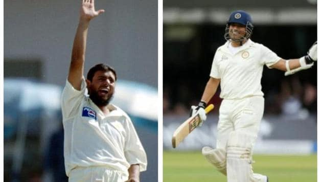 File image of Saqlain Mushtaq and Sachin Tendulkar.(Getty/Reuters/HT Collage)