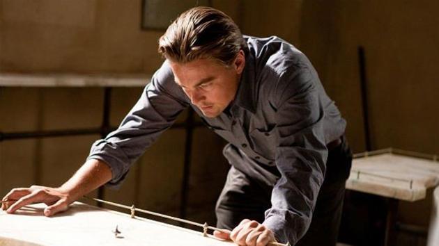 Leonardo DiCaprio with his totem in Inception.