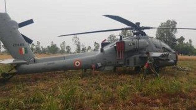 Indian AirForce's AH-64E Apache Helicopter makes emergency landing in Punjab.