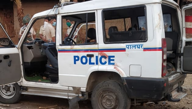 The vehicle in which the victims were travelling.(HT Photo)
