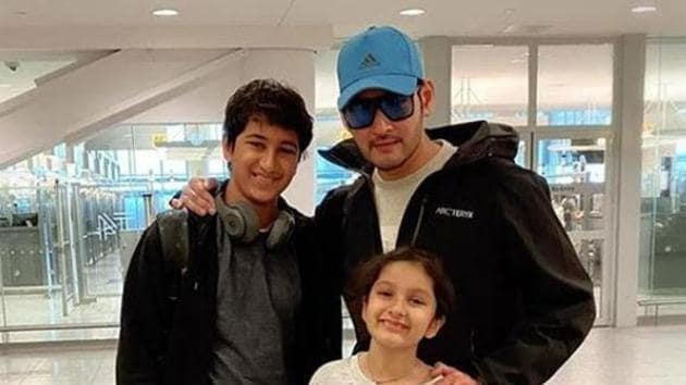 Amid lockdown, Mahesh Babu has been spending time with his children.