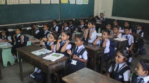 Varsha Gaikwad, the state's minister for school education made the announcement after several parents complained about private schools not adhering to the government's circular about the exemption in payment of fees till the lockdown ends.(HT file photo. Representative image)
