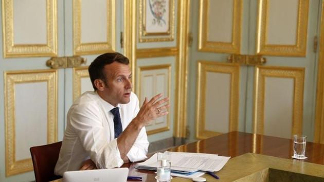 "French President Emmanuel Macron and PM Modi had a ""long telephonic meeting"" on March 31 and ""fixed the areas of collaboration, discussed best practices, an official said.(REUTERS)"