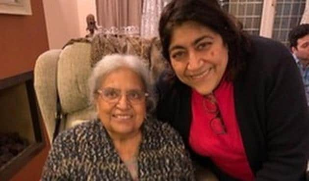 Gurinder Chadha with her late aunt on the sets of Viceroy's House.
