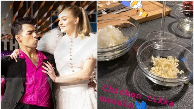 Joe Jonas is experimenting in the kitchen and cooked chicken tikka masala for wife Sophie Turner.
