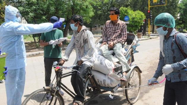 Only limited commercial activity will be allowed in some areas outside coronavirus hotspots.(HT Photo/Keshav Singh)