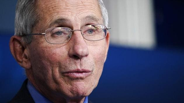 Director of the National Institute of Allergy and Infectious Diseases Anthony Fauci(AFP)