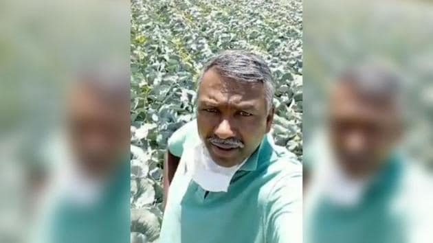 The 50-year-old vegetable farmer in Voddarahalli village in Karnataka's Chamarajanagara district, located on the border with Tamil Nadu, said that he had nearly 100 tonnes of cabbage that was ready for harvest.(Photo: Twitter/ SuKannaiyan)