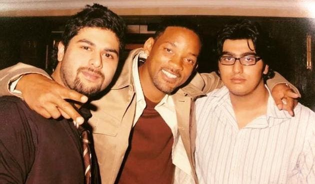 Arjun Kapoor shared a rare throwback picture featuring Will Smith and Kunal Rawal.