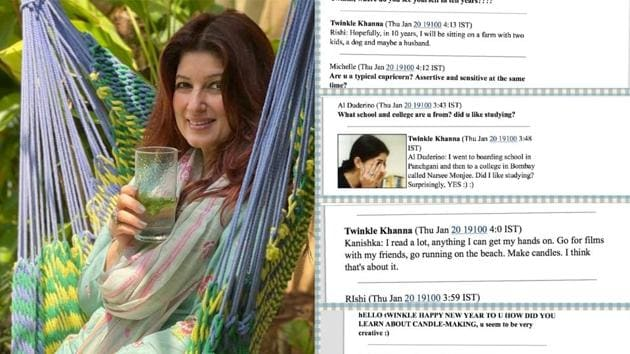Twinkle Khanna has shared a decades-old chat on Instagram.
