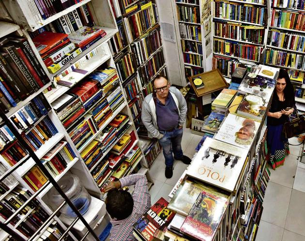 Bahrisons Bookstore at Khan Market has quite a few loyalists, who visited it frequently until lockdown.(Photo: Vipin Kumar/HT)