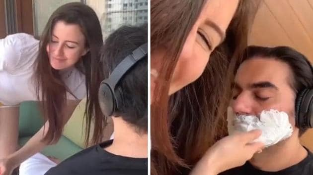 Giorgia Andriani posted a funny video with Arbaaz Khan.