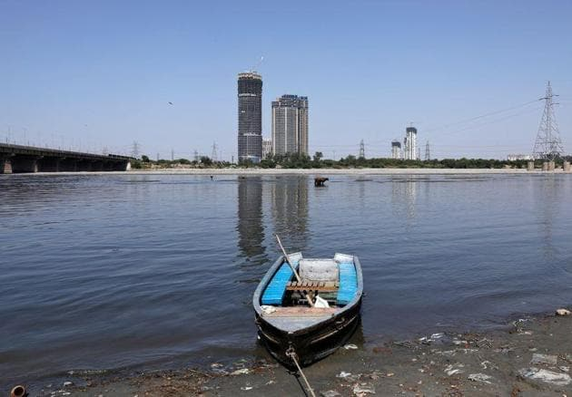 A view of the Yamuna, which is much cleaner now since the Capital is under lockdown to fight against Covid-19.(PHOTO: Adnan Abidi/REUTERS)