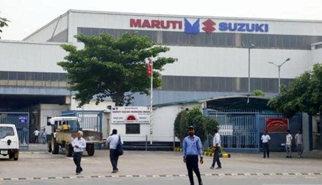 Gurugram: A view of the Maruti Suzuki plant in Manesar near Gurugram.(PTI)