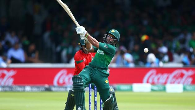 Imam Ul-Haq of Pakistan plays a shot.(Getty Images)