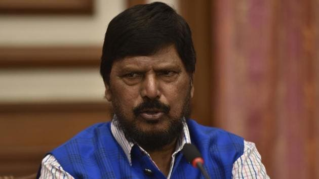Athawale, who is the Minister of State for Social Justice, resides in Bandra East locality.(Anshuman Poyrekar/HT Photo)