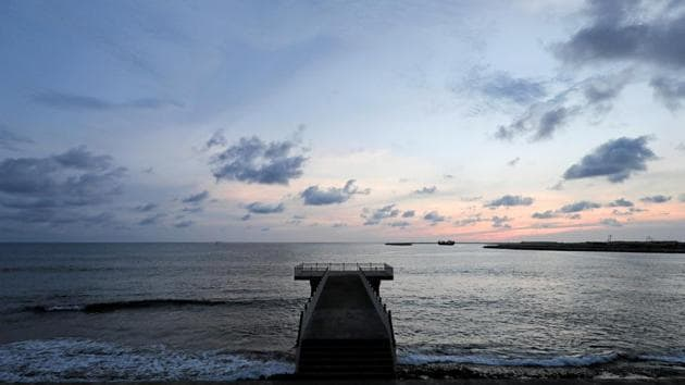 An empty jetty is seen ahead of Earth Day, during the curfew amid concerns about the spread of coronavirus disease.(REUTERS)