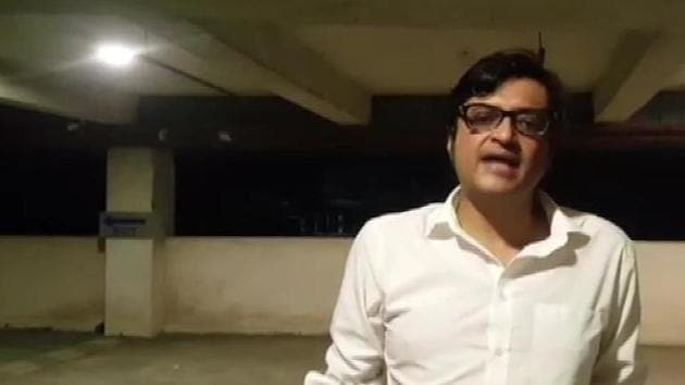 Television journalist Arnab Goswami said his car was attacked in Mumbai after midnight.(ANI Photo)