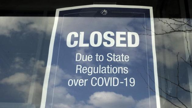 The total for the week ending April 18 is a drop from the initial claims filed in the previous three weeks, but remains at staggeringly high levels due to government-ordered shutdowns to stop the pandemic from spreading and intensifying.(AP)