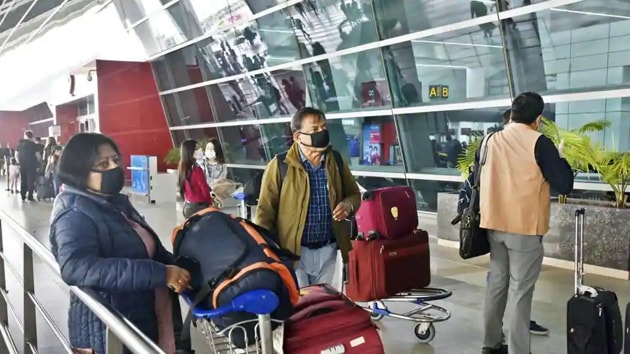 Even as flight operations were suspended in the country March 25 onwards, relief flights, cargo flights and Air Force flights are operational.(Sanjeev Verma/HT Photo)