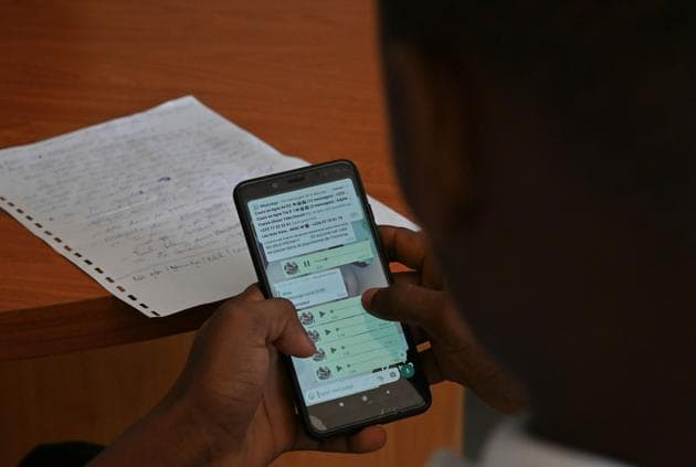 Remotely located in Laudhana gram sabha of Sarsawan development block, the school has started online classes through WhatsApp by making a group of 127 students.(Representative image/AFP)