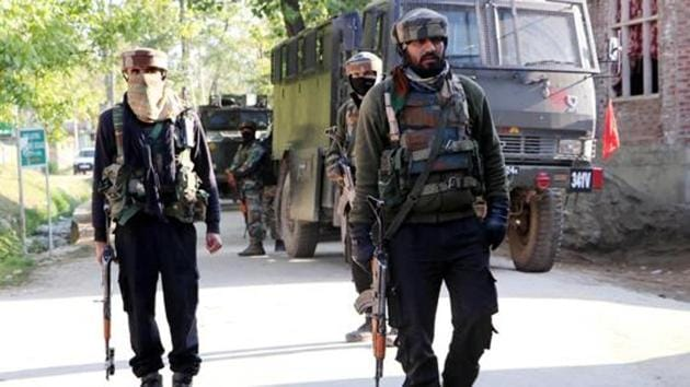 On Wednesday, four militants were killed in a gun battle at Mulhora village in Shopian district.(ANI)
