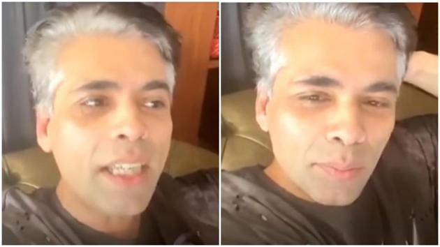 Karan Johar has decided to embrace his age with his new look.