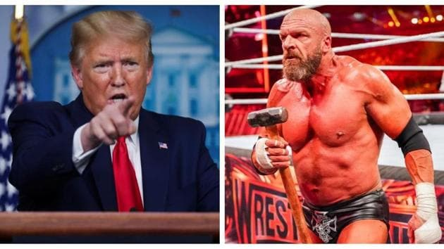 Donald Trump and Triple H.(Reuters/WWE)