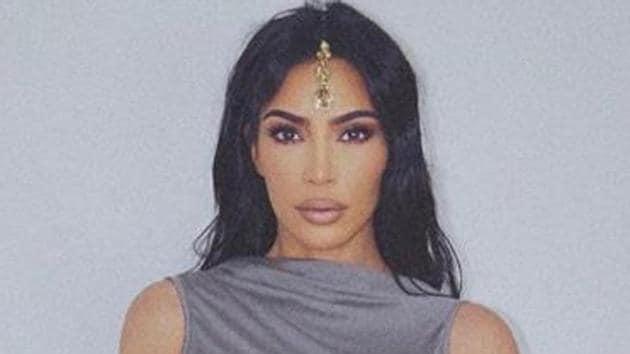 Kim Kardashian wore maang tikka and bangles with her latest look.