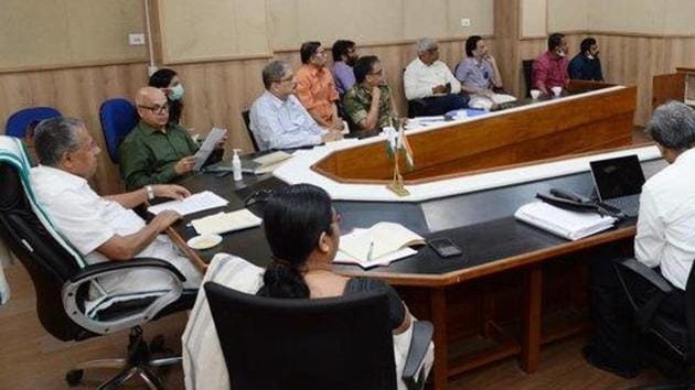 CM Pinarayi Vijayan said the state also sought the Centre's help in sending stranded migrant workers back to their states. (Photo: @vijayanpinarayi)