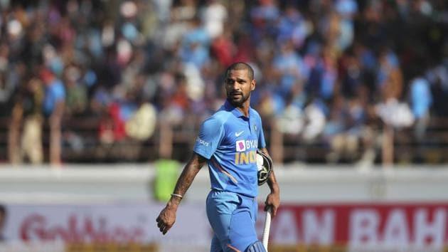 India's Shikhar Dhawan during an ODI(AP)