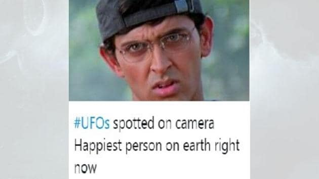 People flooded Twitter with alien-related posts.(Twitter/@Bhismadev9)