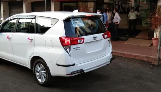Panaji Mayor Uday Madkaika has come under flak for buying a new car despite the Chief Minister saying no new cars would be allowed to be purchased.(HT PHOTO)