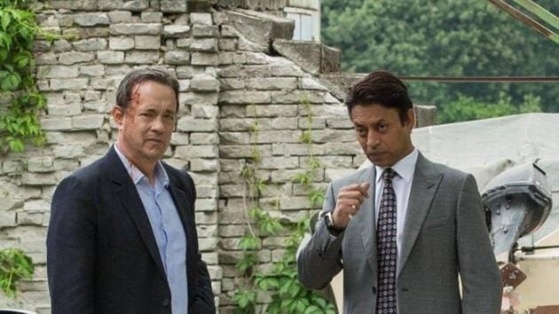 Irrfan Khan and Tom Hanks in a still from Inferno.