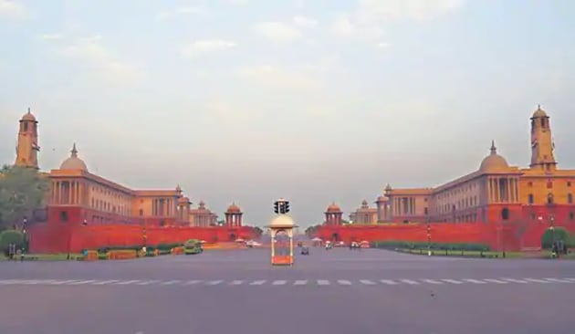 The Rashtrapati Bhavan at the western end of Rajpath, which the government is seeking to remodel.(Mint)