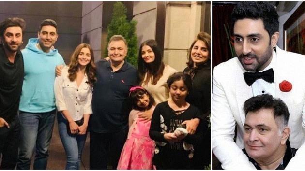 Rishi Kapoor and Abhishek Bachchan had family relations.