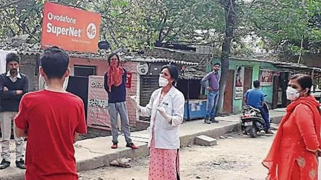 Dr Alka Chaudhary, 48, has been working in the city's first mohalla clinic in Peera Garhi.