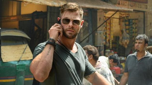 Chris Hemsworth in a still from Netflix's Extraction.