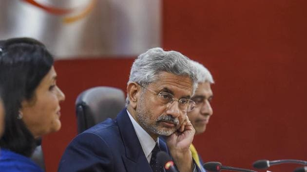 External Affairs Minister S Jaishankar during the India Central Asia Business Forum, at FICCI in New Delhi, Thursday, Feb. 6, 2020.(PTI)