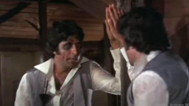 Amitabh Bachchan in Amar Akbar Anthony.