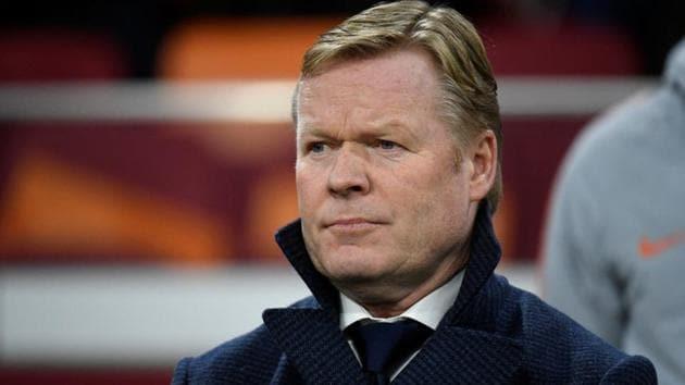 Netherlands coach Ronald Koeman before the match.(REUTERS)