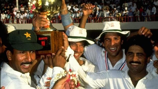 File photo of Javed Miandad (Extreme right) with teammates(Getty Images)