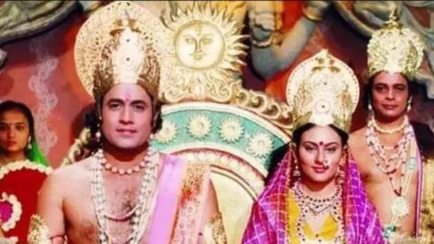 Arun Govil stars as Ram and Dipika Chikhalia as Sita in Ramayan.