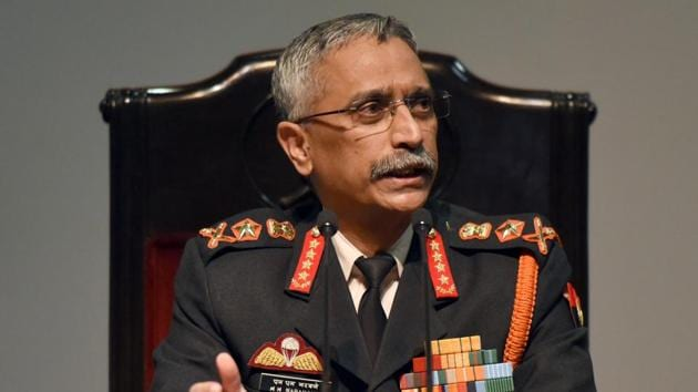 Chief of the Army Staff General Manoj Mukund Naravane said that onus remains on Islamabad to bring peace in the region.(Sonu Mehta/HT File Photo)